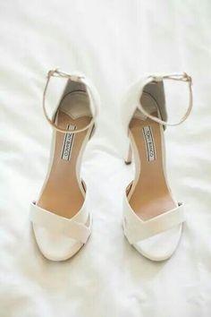 My Tony Bianco ivory wedding shoes!