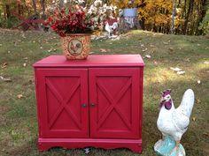 Cubbard painted in waverly Crimson chalk paint