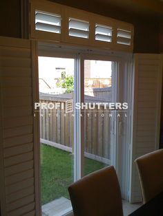 indoor french door shutters | Patio & French Door Shutters