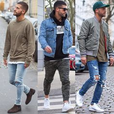 """street inspiration. whats your fav. Look? Follow my friend@Style4Guys for more…"