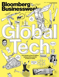 This week we chose Bloomberg Businessweek 9 June issue cover for Magazine Cover of the Week. We love the yellow colour!
