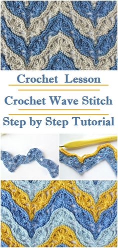 Crochet Wave Stitch Crochet Wave Stitch,Hook and needle Learn to crochet wave stitch with the help of the step by step instructions bags purses crafts stitches patterns stitch crochet crafts Crochet Shell Stitch, Filet Crochet, Crochet Shawl, Knit Crochet, Easy Crochet, Crochet Wave Pattern, Crochet Afgans, Crochet Summer, Crochet Free Patterns