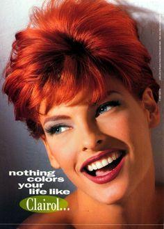 Linda Evangelista, red hair