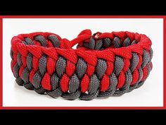 "Paracord Bracelet: ""Alligator Fang"" Bracelet Design Without Buckle - YouTube"