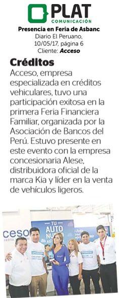 Acceso: Presencia en Feria de Asbanc en el diario El Peruano (07/05/17)