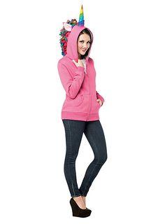 Einhorn Hoodie pink ★ Kostüm Hoodie online bestellen ★ maskworld.com