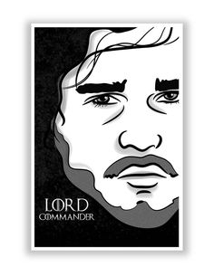 Lord Commander   Jon Snow Game Of Thrones Poster