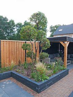 Back Gardens, Outdoor Gardens, Bbq Hut, Back Garden Design, Painting The Roses Red, Porches, Fire Pit Area, Garden Makeover, Garden Yard Ideas