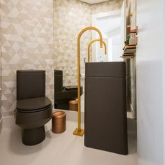 lavabo-cuba-de-chao Toilet Design, Bathroom Sinks, Small Shower Room, Restroom Decoration, Wall Colors, Sink Design, Interiors