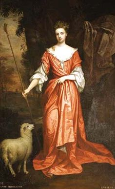 It's About Time:17C -18C Shepherdess allegory portraits, Portrait of Frances Whitmore by Godfrey Kneller