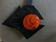 bijou de sac poisson noir et orange : Autres bijoux par pariscoubidou