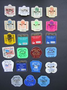 23   YEARS   SPRING   LAKE    NEW   JERSEY   BEACH   BADGE/TAGS