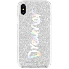 Rebecca Minkoff Dreamer Silver Glitter Case For Iphone X (115 PEN) ❤ liked on Polyvore featuring accessories, tech accessories, silver and rebecca minkoff