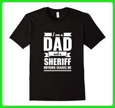 Mens Dad and Sheriff Nothing Scares Me T-shirt Father's Day Gift Large Black - Holiday and seasonal shirts (*Amazon Partner-Link)