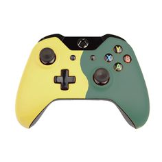 Custom Xbox One Controller  Wireless Glossy  Half-Green Beige-And-Half-Fir Green