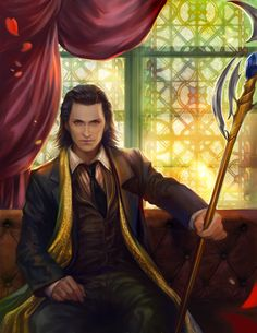 kneel for me by jiuge.deviantart.com on @deviantART - Ooh...I really like this version of Loki - he looks so suave!