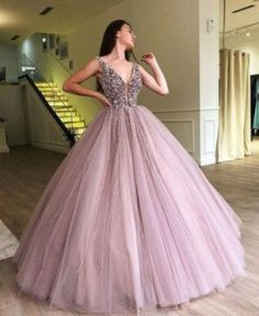 2019 A-line Elegant Sparkly Gorgeous Princess Prom Gown, Purple Stunning Prom dresses, wedding Gown, Stunning Prom Dresses, Pink Prom Dresses, Backless Prom Dresses, Bridal Dresses, Chiffon Dresses, Bridesmaid Gowns, Backless Wedding, Elegant Dresses, Sexy Dresses