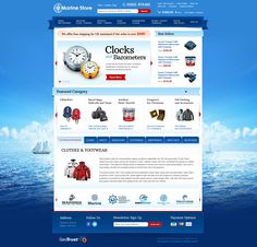 MarineStore.uk - Home Page Mockup - Miva Merchant eCommerce Design / Customization