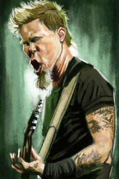 James Helfield (Metallica) by Antonio Pozo #Music #Caricature