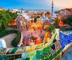 Barcelona has some colorful highlights #colorfultravel