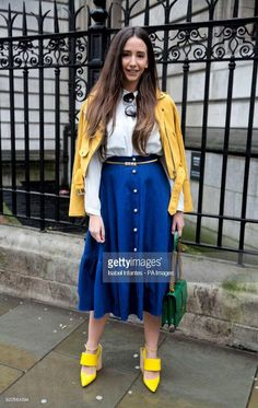 London Fashion Week Spring outfit Photo via Getty Images