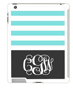 This Aqua Stripe Monogram iPad Case by Tin Tree Gifts is perfect! #zulilyfinds