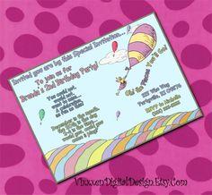 DR SEUSS OhThe Places You'll GO Birthday by VixxxenDigitalDesign, $10.00