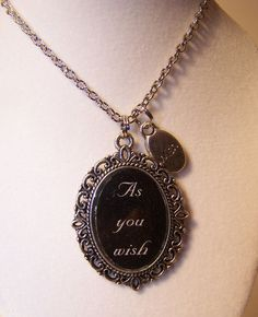 As You Wish Cameo Quote Necklace