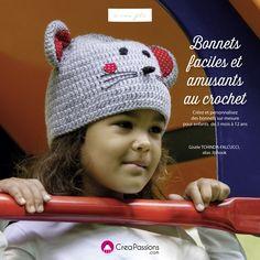 """Livre dédicacé """"Bonnets Faciles et Amusants au Crochet"""" - Jiji Hook"""