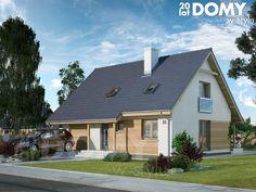 projekty domów jednorodzinnych z poddaszem