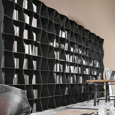 Iron-ic is a modular, metal bookcase by Ronda Design that make interiors ever more interesting, functional and livable. Iron-ic is technologically innovative, Furniture Market, Furniture Design, Door Design, House Design, Design Design, Interior Design, Library Bookshelves, Bookcases, Architecture Design