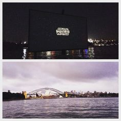 Waited 3 months to finally see Star Wars episode VII! Worth it with the gorgeous harbour in the background and the sun setting #starwars #forceawakens #stgeorgeopenair #stgeorgeopenaircinema #sydneyhabour #sydney #mrsmacquarieschair #sydneyharbourbridge #operahouse #australia #sunset by alfie_eats http://ift.tt/1NRMbNv