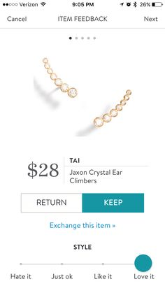 I get adventurous with earrings but having a baby limits me from wearing a lot of dangly pieces. Something like the above would be really fun to wear without the constant fear of torn earlobes.