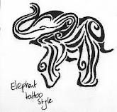Cute little elephant tatoo