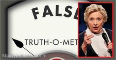 Fact Checked: 5 Huge Lies Crooked Hillary Told At Last Night's Debate