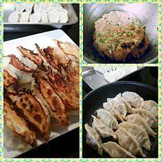 久しぶりのタネからの手作り餃子♪ 家に食材ないかと思いきや、あるもので作れた。 子供から『本物の味がする~♪』 この言葉、喜ぶべきでしょうか…(´д`|||) 3回焼いて、2便が一番上手くいった写メ。  包むのは、豊さんが手伝ってくれました(*^^*) - 60件のもぐもぐ - 餃子♪ by yu3yu35