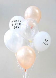 風船 パーティーバルーン 5枚パック Happy Birthday To You ホワイト 誕生日 バルーン 白 モノトーン バースデイ 飾り バースデー パーティーデコレーション ゴム風船 メール便可 あす楽 リトルレモネード Room 欲しい に出会 誕生日 バルーン 誕生日 風船