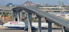 British Airways Boeing 747-400 at Sky Harbor International Airport in Phoenix, Arizona