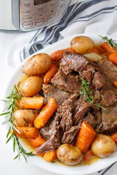 This is the best Instant Pot pot roast recipe! Create the perfect Instant Pot chuck roast with potatoes, carrots and onion. Such a simple pot roast that yields a scrumptious Sunday dinner.