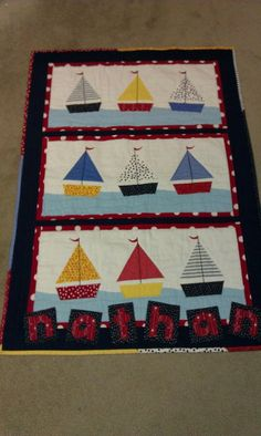 Sailboat Quilt-HAND QUILTED (special order)