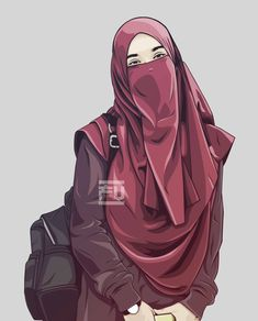 The scarf is an essential bit within the garments of females together with hijab. Arab Girls Hijab, Muslim Girls, Girl Hijab, Hijabi Girl, Hijab Niqab, Muslim Hijab, Hijab Dp, Girl Cartoon, Cartoon Art