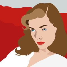 Avery Nejam illustrates Lauren Bacall as our Chic of the Week.