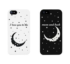 I Love You to the Moon and Back Couples Matching Cell Phone Cases for iphone Best Friend Cases, Bff Cases, Couples Phone Cases, Friends Phone Case, Couple Cases, Funny Phone Cases, Cool Iphone Cases, Iphone Phone Cases, Iphone 5s
