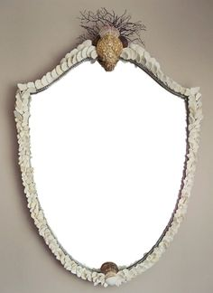 Beach Comber's Shield Sea Shell Mirror. Marjorie Stafford Design... Sea Shell Mirrors are Always So Lovely!!!