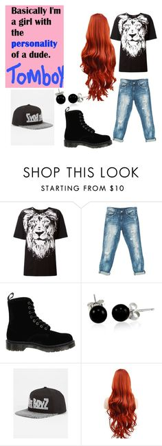 """""""I'm a Tomboy!!!"""" by chunky41300 ❤ liked on Polyvore featuring Roberto Cavalli, Sans Souci, Dr. Martens, Bling Jewelry and Dope"""
