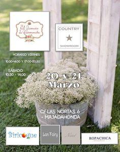 ¡Os esperamos este fin de semana en El Armario de Carmencita!  Country #Showroom este viernes 20 y sábado 21 en C/ Las Norias, 6 (Majadahonda) #Madrid  ¡No te lo puedes perder! #Moda infantil diferente, a precios diferentes.
