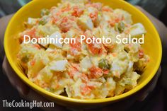 Dominican potato salad recipe Dominican Potato Salad Recipe, Dominican Food, Dominican Recipes, Side Dish Recipes, Dinner Recipes, Good Food, Yummy Food, Comida Latina, Island Food