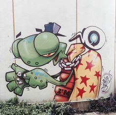 Street art   Mural by Binho