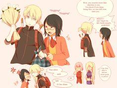 Sai's and Ino's kid almost looks like Kagamine Len :0 but--