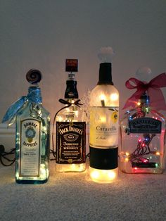 Recycled Electric Liquor Bottle Lamps!